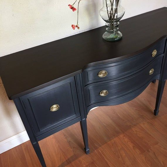 SOLD Gorgeous antique buffet sideboard leggy Federal ...