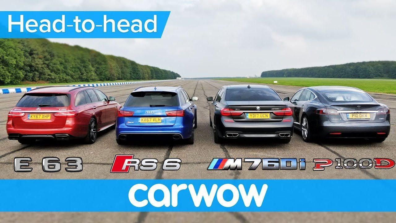 BMW M760Li v Tesla Model S v Audi RS 6 v MercedesAMG
