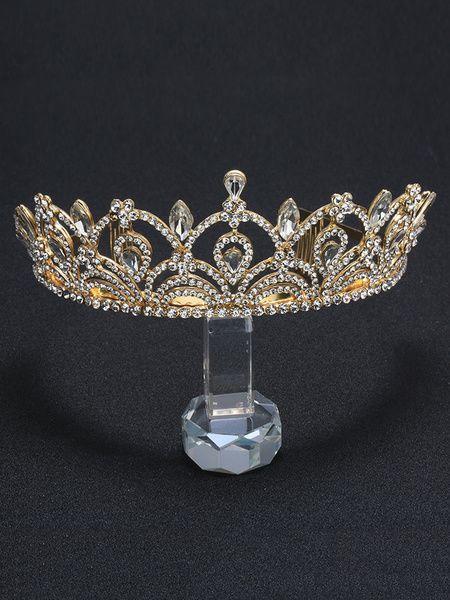Couronne princesse en couleur Argent Tiare de Mariée Mariage Royal Accessoires Cheveux & Mariage > Accessoires de mariage > Coiffes de mariage