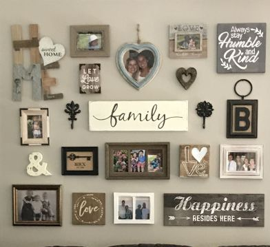 Twenty awesome and unique gallery walls for the home in wall frames also rh pinterest