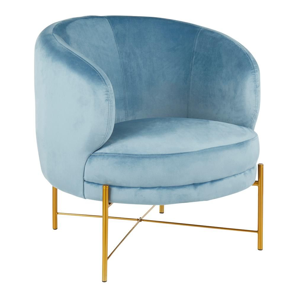 Best Lumisource Chloe Powder Blue Velvet And Gold Accent Chair 640 x 480