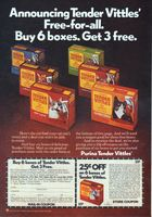 Tender Vittles Cat Food 1975 Ad Picture Pet Care Cats Dog Food