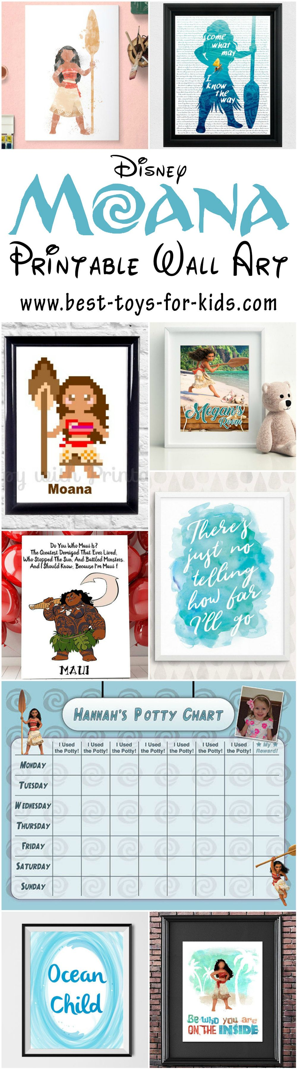 Eye Catching Disney Moana Printable Art Pictures and Wall Decor For ...