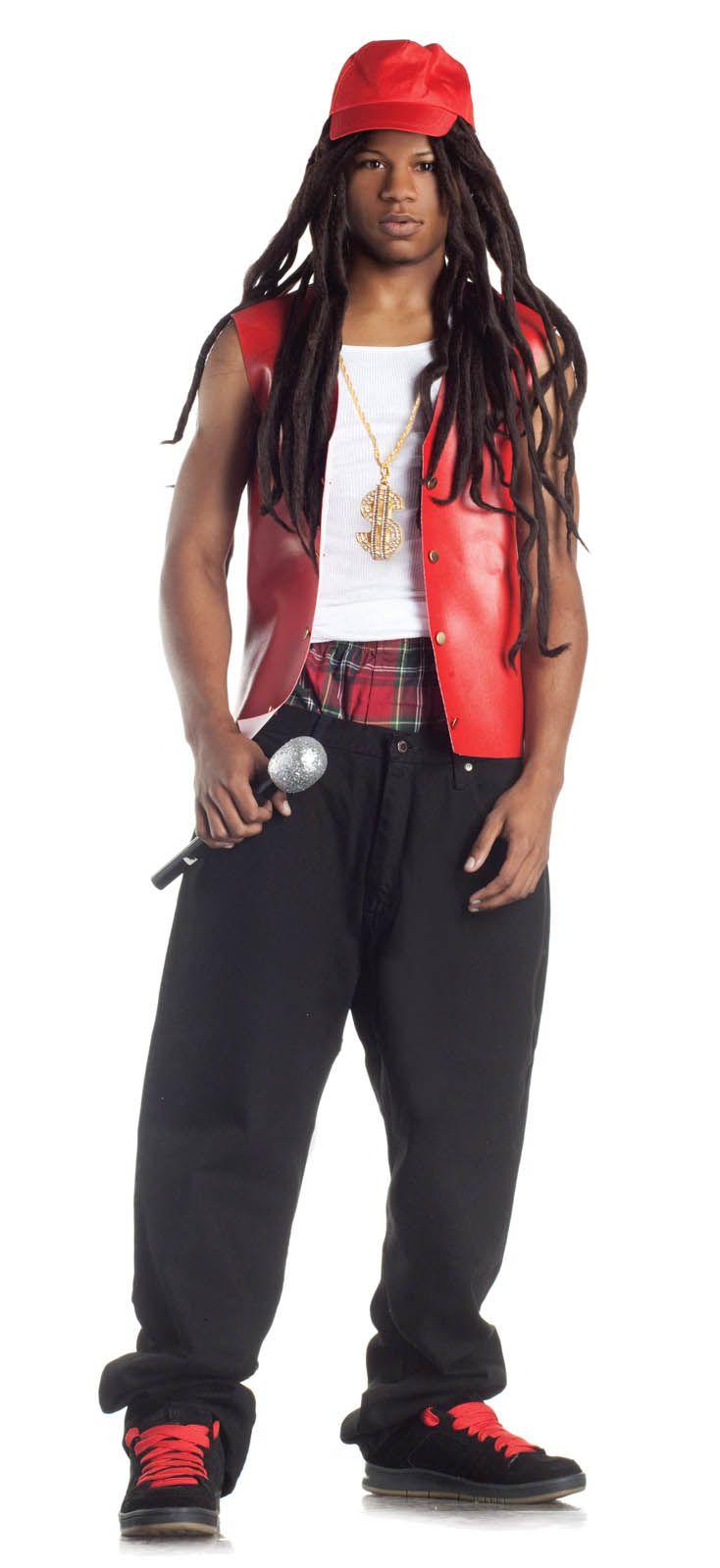 de6f971b03d Rapper Costume Gangsta Lil John Wayne Vest Bling Dreadlock Wig Mens Teen S  M L in Clothing