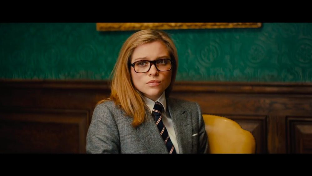ab66c5be500 Sophie Cookson with Kingsman + Cutler And Gross Square-Frame Tortoiseshell Acetate  Optical Glasses in Kingsman  The Golden Circle