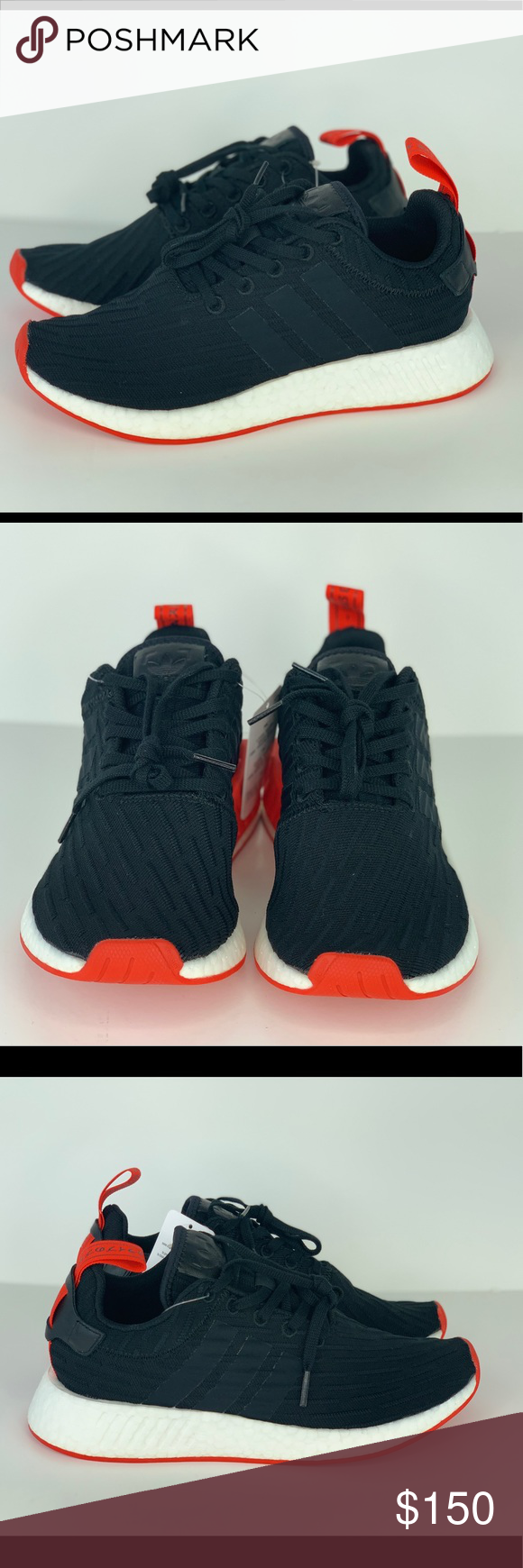 2017 Adidas NMD R2 Primeknit Footwear WhiteCore Red For Sale