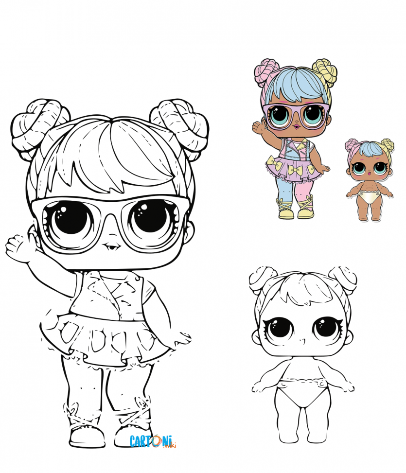 Colora Lol Surprise Bon Bon E La Sua Lil Cartoni Animati Doll Drawing Lol Dolls Cute Coloring Pages