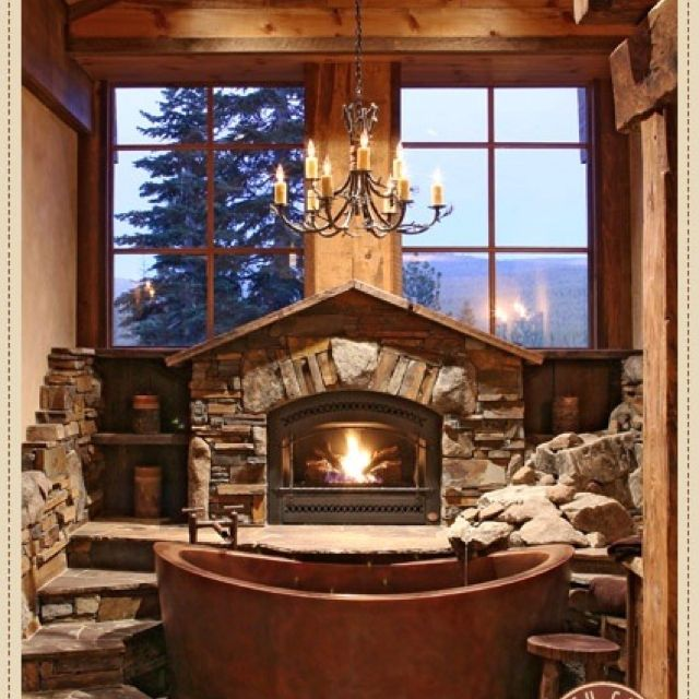 This is an amazing bath tub for a country home!