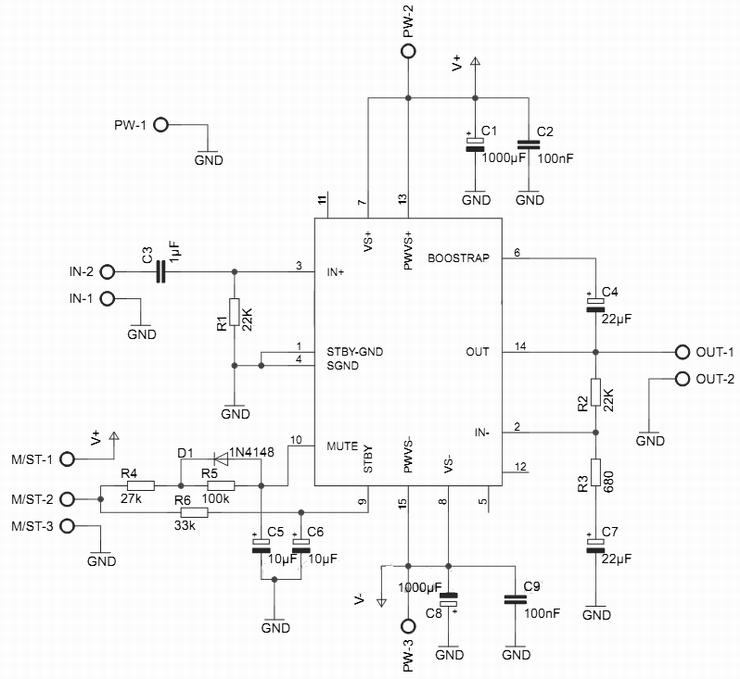 Amplifier Ciruit Tda Toshiba Audio Layouts Diagram Audio Power