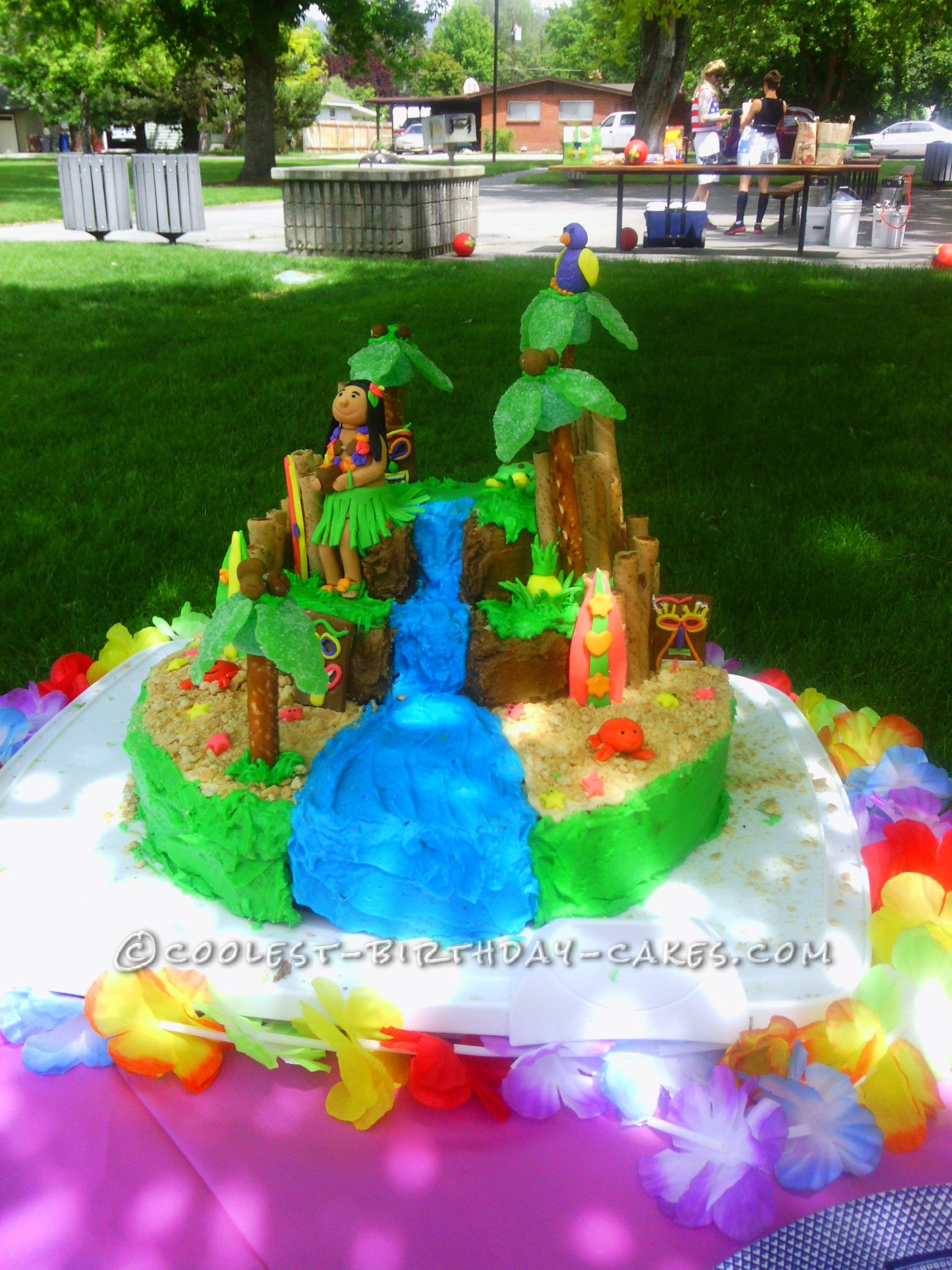 Beautiful Luau Cake For Graces 11th Birthday This Website Is The Pinterest Of Ideas