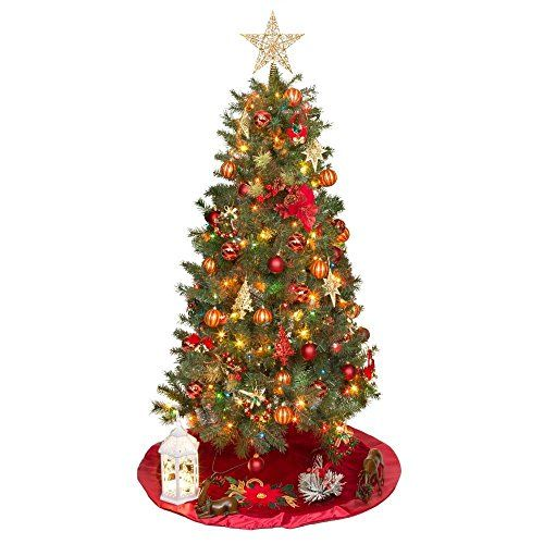 6ft Multi-color Pre-lit Valley Pine Christmas Tree: 6 Foot ...