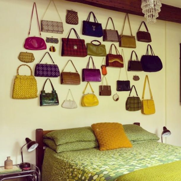 Handbag wall display | Wall displays collections | Pinterest ...