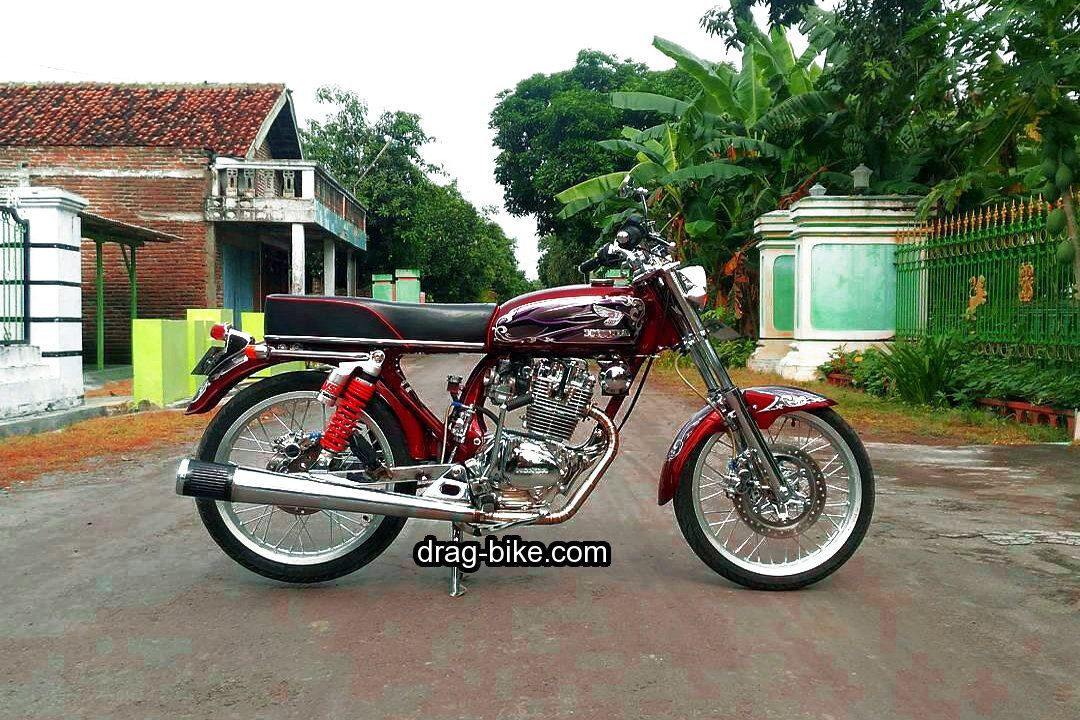 Gambar Modifikasi Motor Cb Gelatik Merah Honda Cb Honda