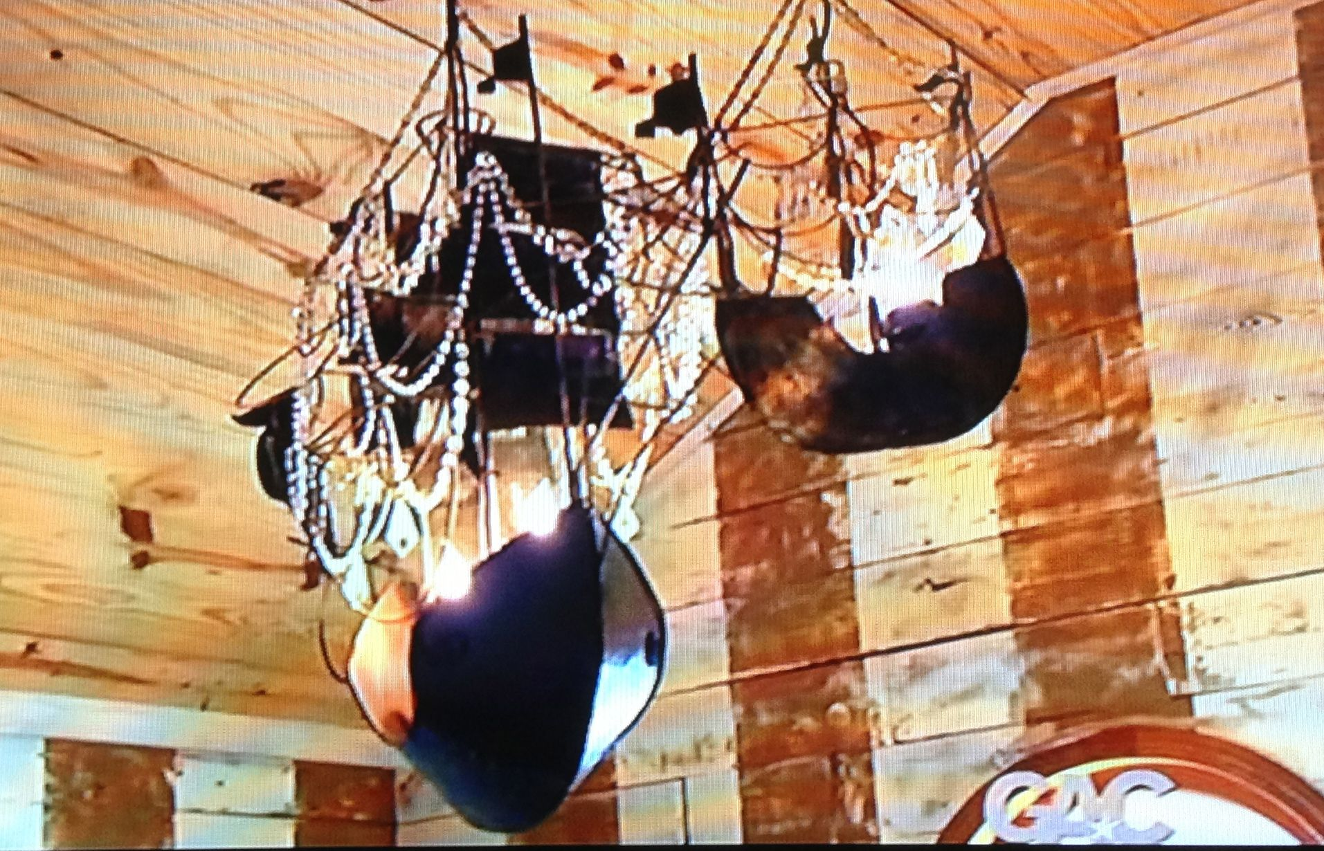 Junk Gypsies pirate ship chandeliers