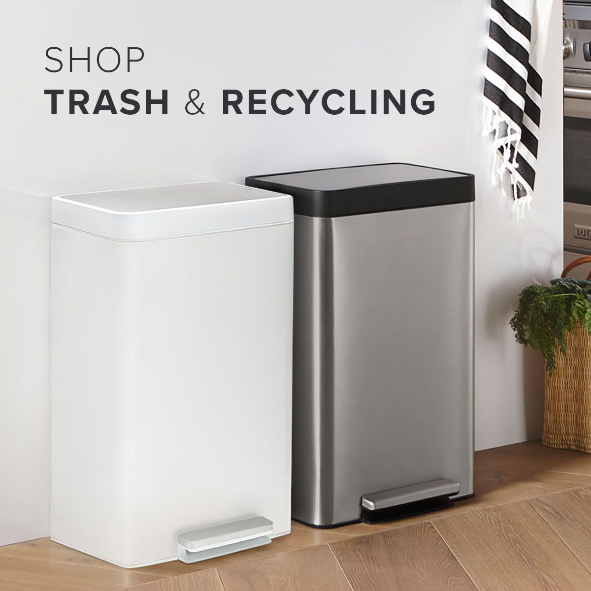 Sleek and simple trash can and recycling solutions ...