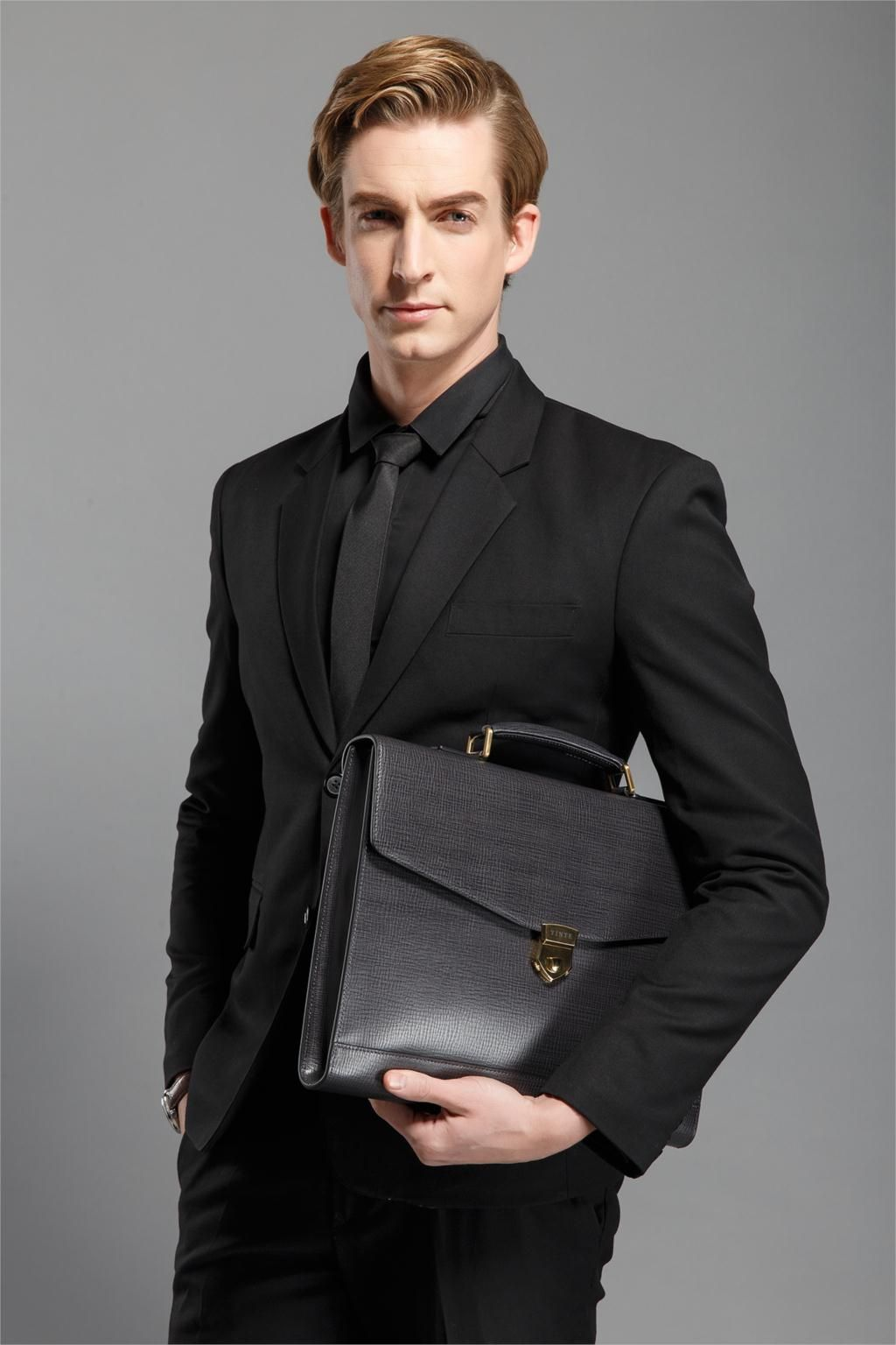 8898097e8daa Aliexpress.com   Buy New Fashion Men Leather Briefcase High Quality Laptop  Briefcase Office Bag Lawyer Messenger Handbag Teacher Business Portfolio  from ...