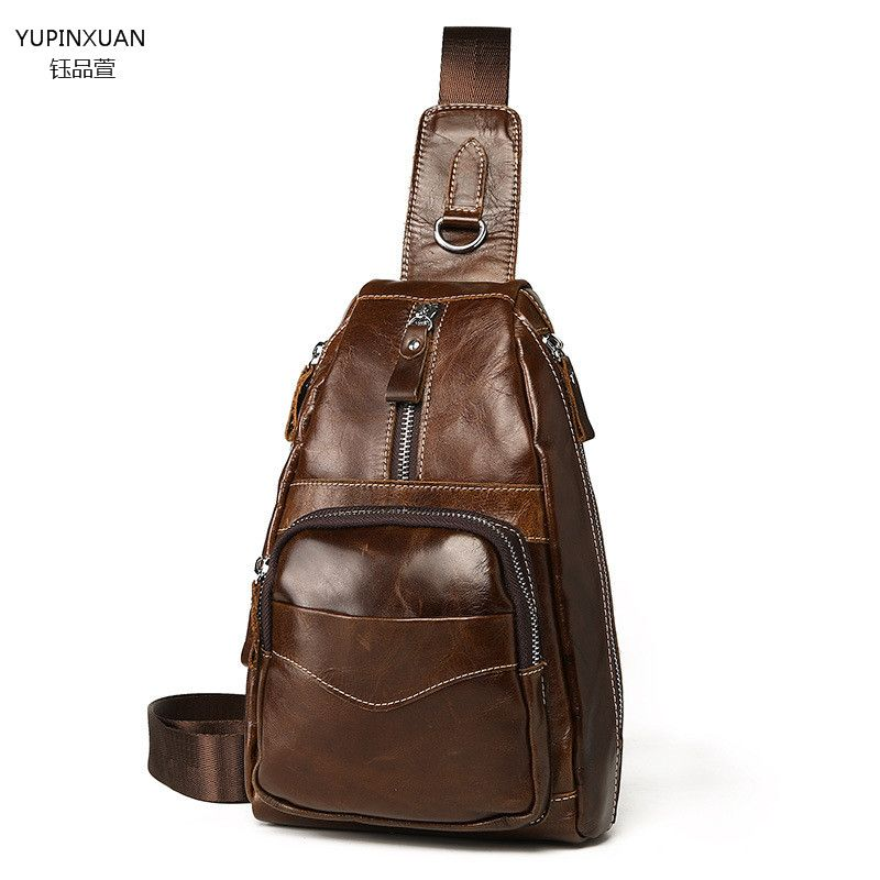 a30ee03a0750 YUPINXUAN Branded Luxury Men s Chest Bag Genuine Leather Shoulder Bags  Designer Cowhide Crossbody Bags Chest Pack Messenger Bags  Affiliate