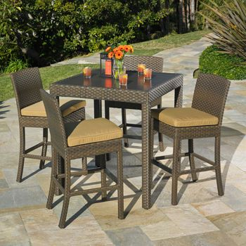 madrid 5 piece bar height dining set by
