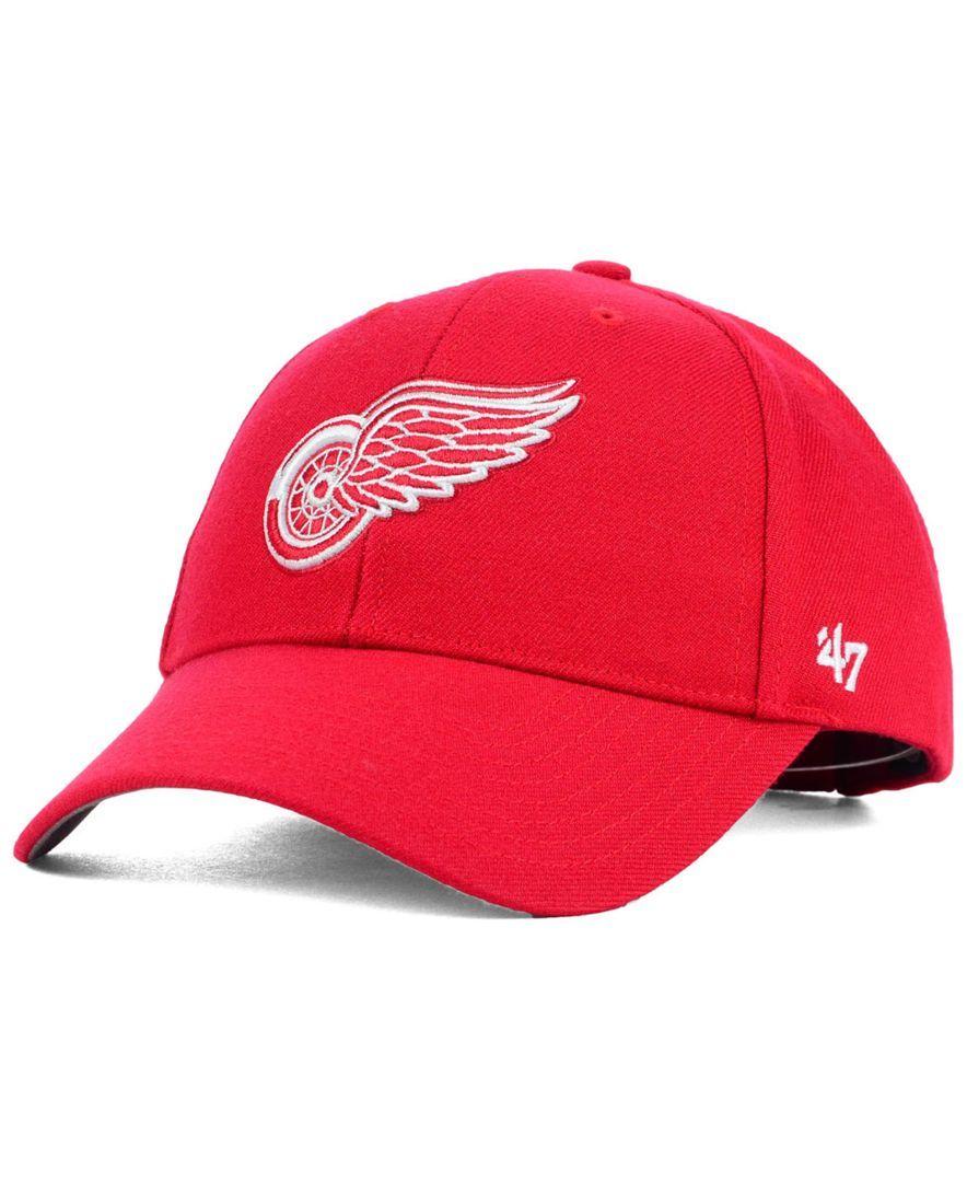 47 Brand Detroit Red Wings Curved Mvp Cap