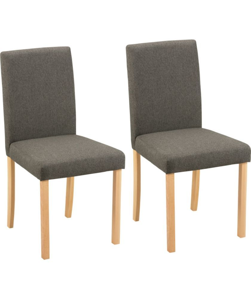 buy aston pair of charcoal fabric dining chairs at argos co uk