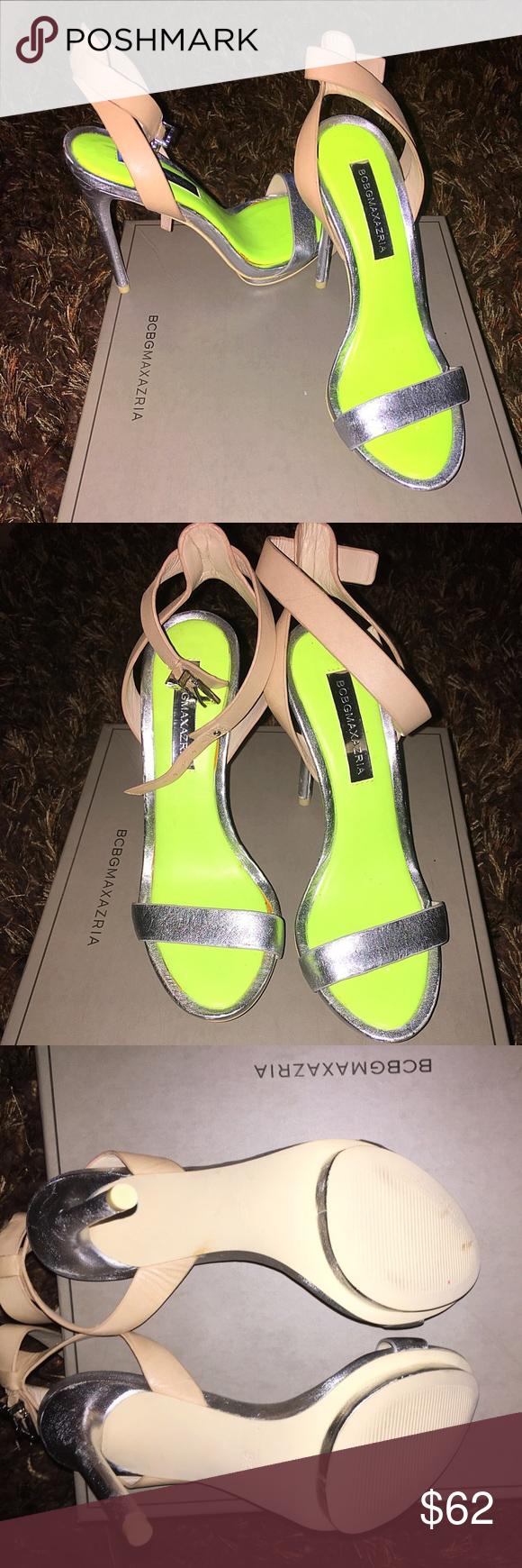 6300d2466f7 BCBG Max Azria heel- MA-FINITE Open toe, MA FINITE Platinum/Nude ...