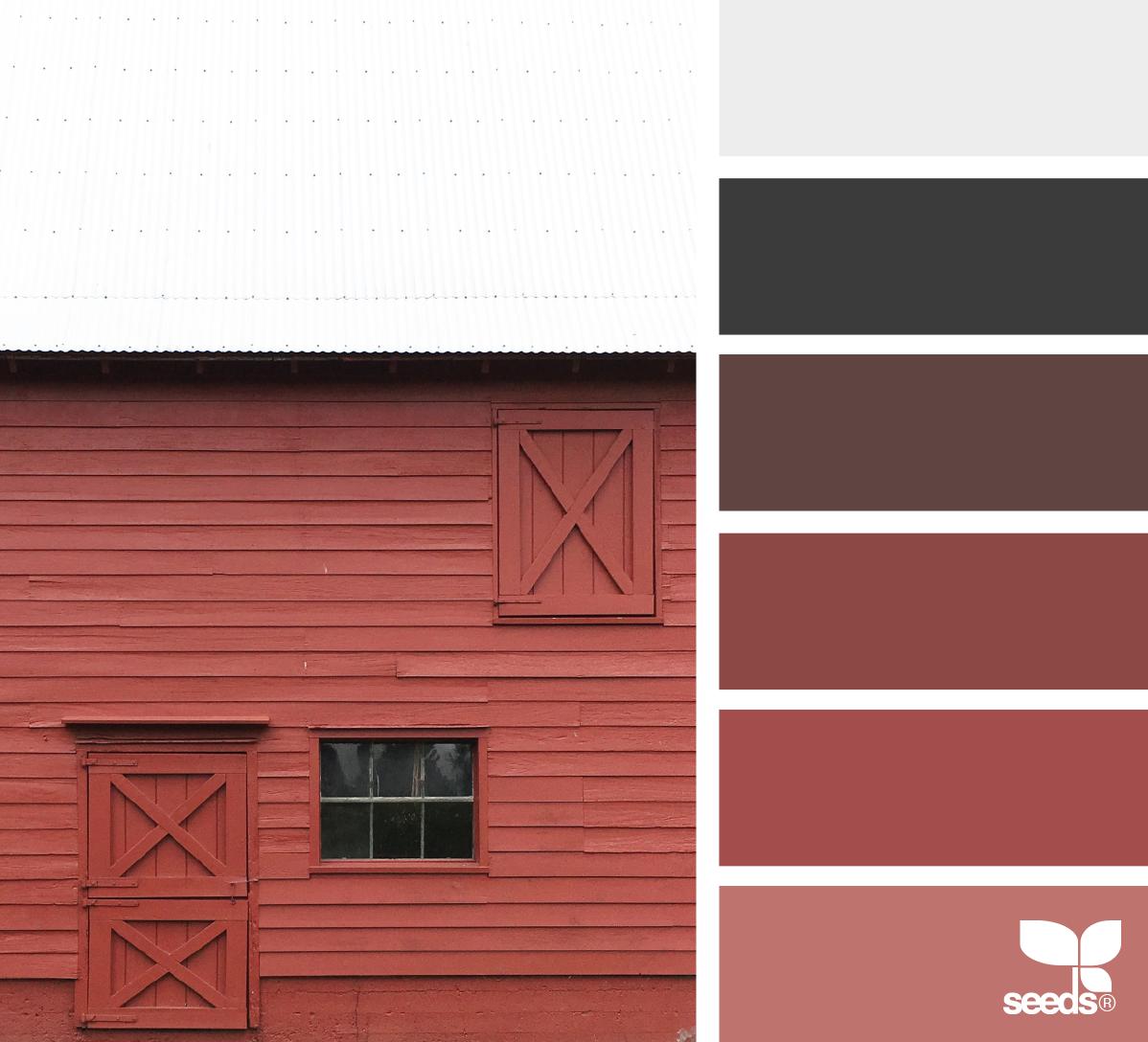 Barn Tones Image Via Suertj Color Palette Designseeds Seeds Seedscolor Red Barn Rustic Color Schemes Rustic Color Palettes Design Seeds