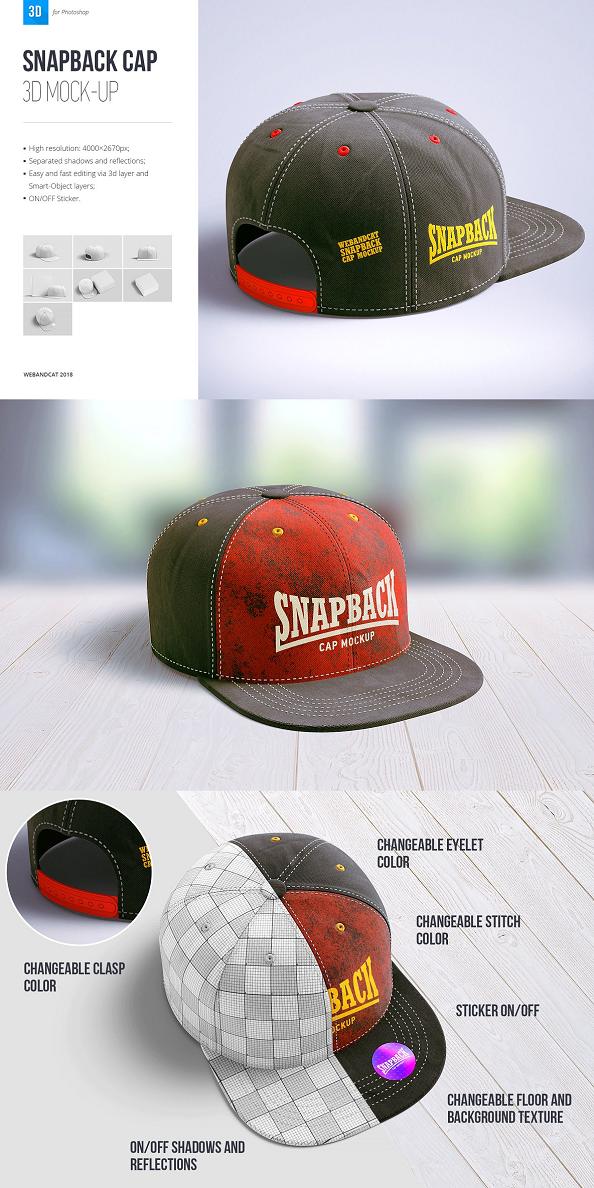 Download Snapback Cap 3d Mockup Mockup Cap Football Casuals