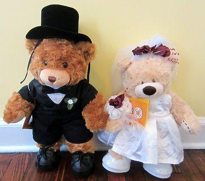 Bride And Groom Build A Bear Teddy Bears With Tux Wedding Gown 20