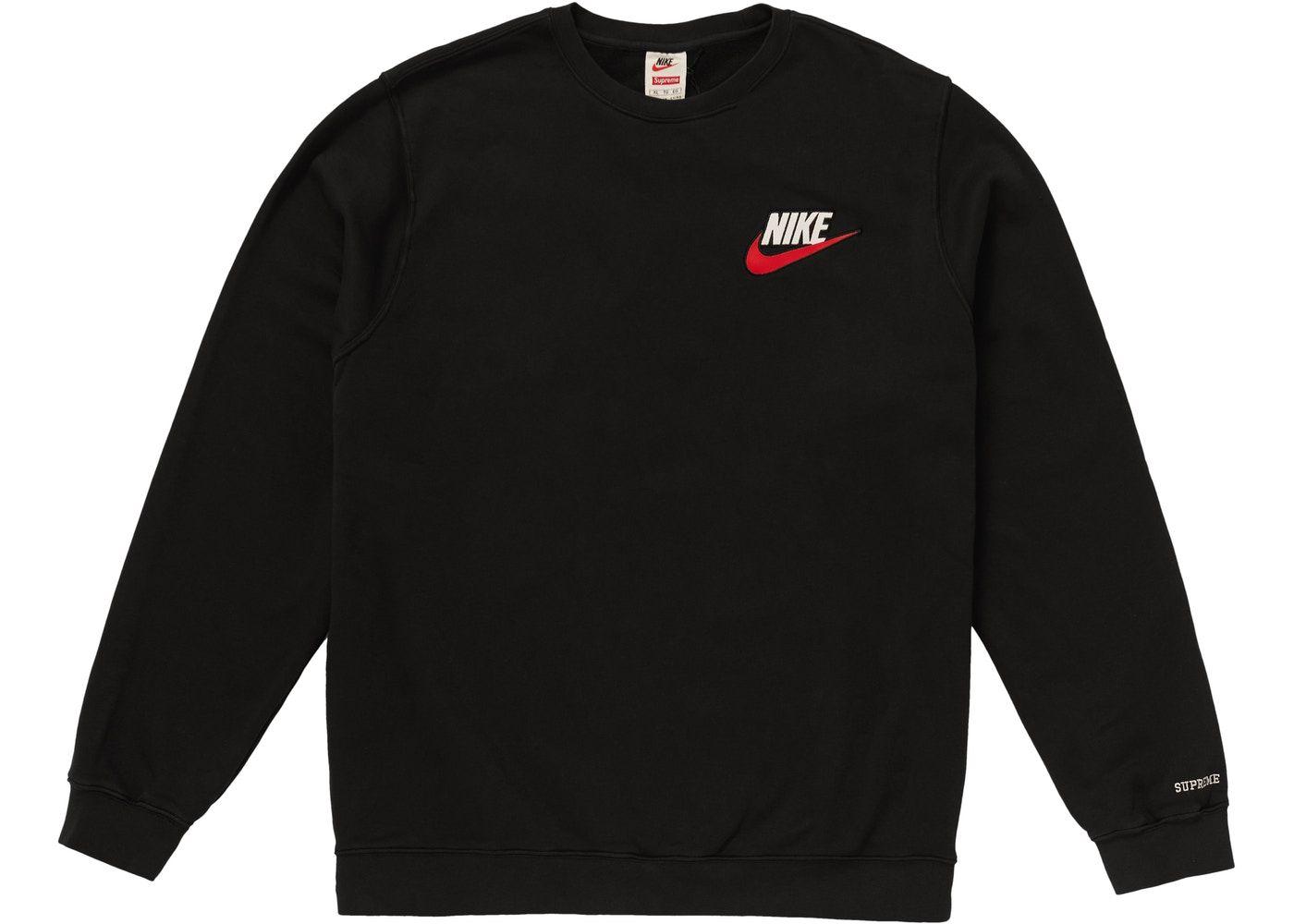 Supreme Nike Crewneck Black Nike Crewneck Nike Crewneck Sweatshirt Black Sweatshirts [ 1000 x 1400 Pixel ]