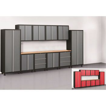 Costco Newage Products Bold Series 12 Piece Cabinetry Set Red Or Grey