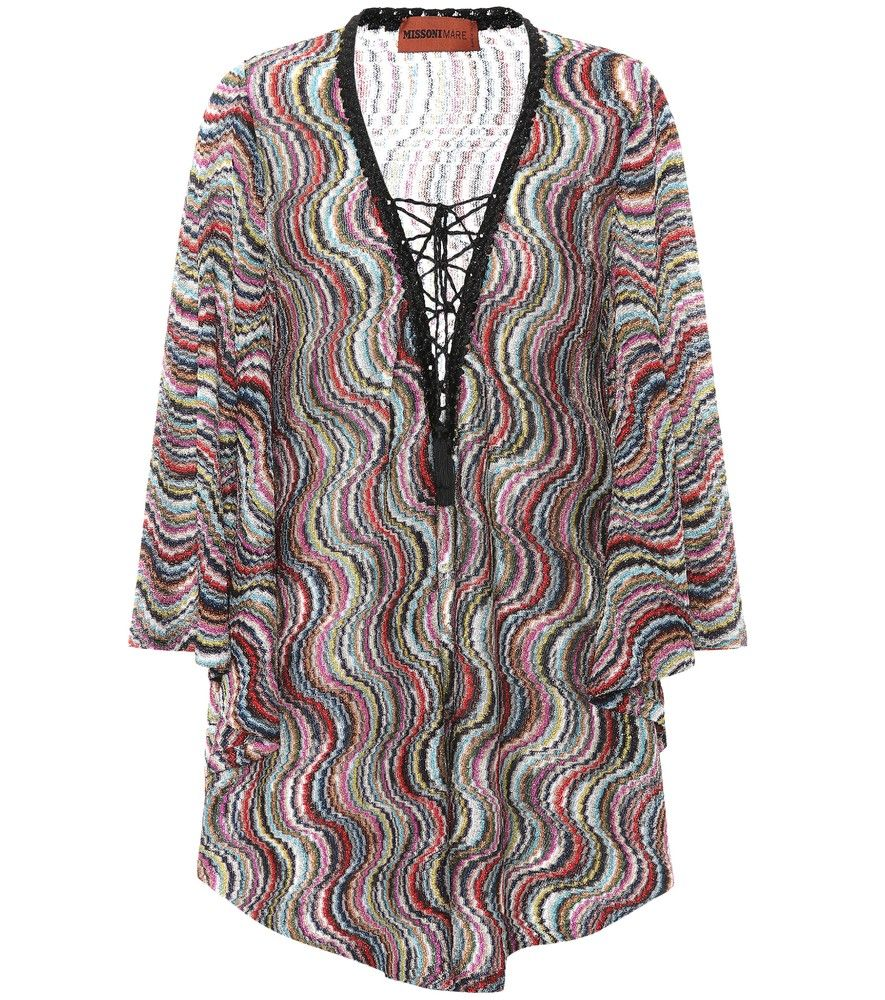 9b168a2cbc4d Missoni Mare - Metallic knitted cover-up - Make Italian glamour the theme  of your vacation edit this season with Missoni Mare s multicoloured cover-up  in ...