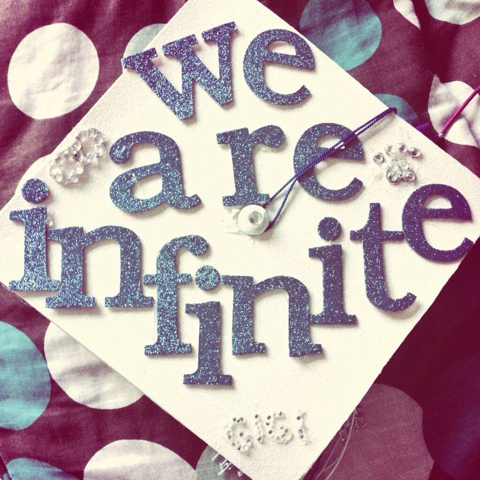 "Handmade graduation cap ""We are infinite"""