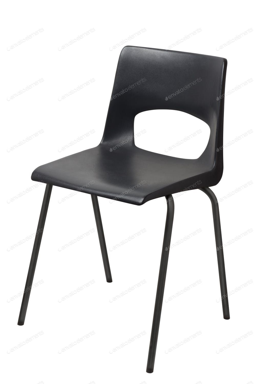 Black Chair Isolated On A White Background By Ozaiachin S Photos