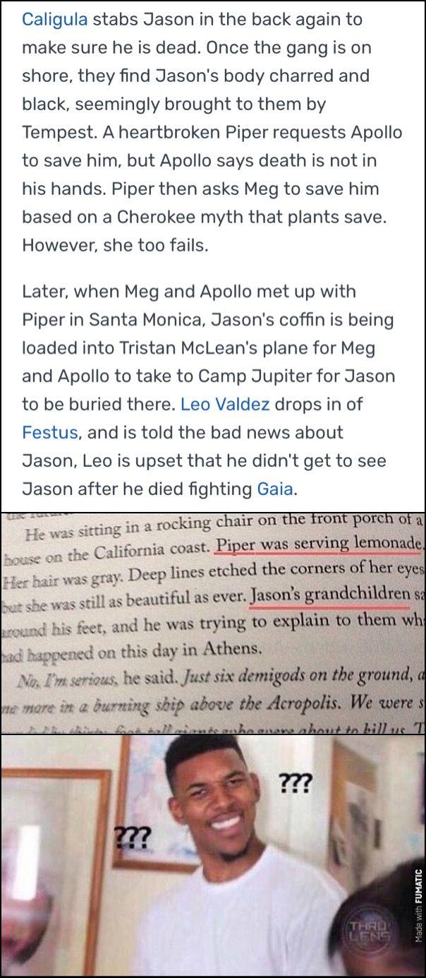 Jason S Not Permanently Dead Theory Percy Jackson Memes Jason