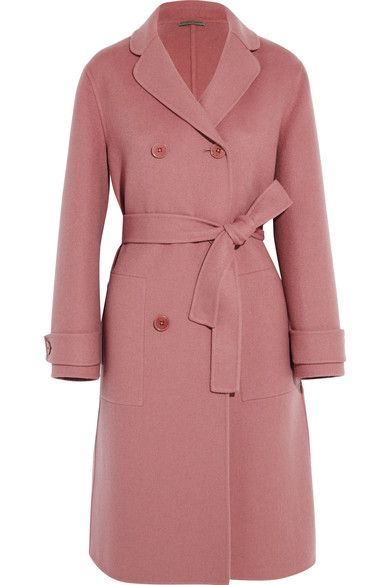 Pink cashmere Button fastenings through double-breasted