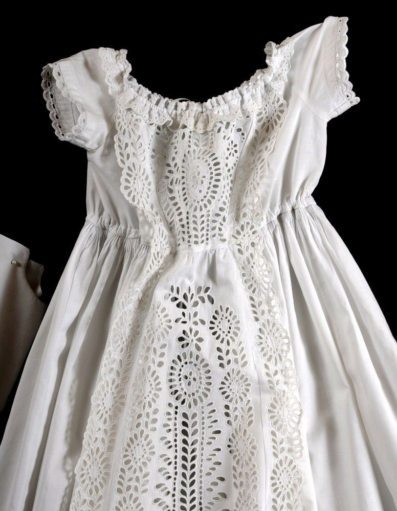 C1860 Antique Christening Gown Slip