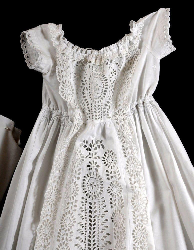 Vintage Christening Gowns | c1860 Antique Christening Gown & Slip ...