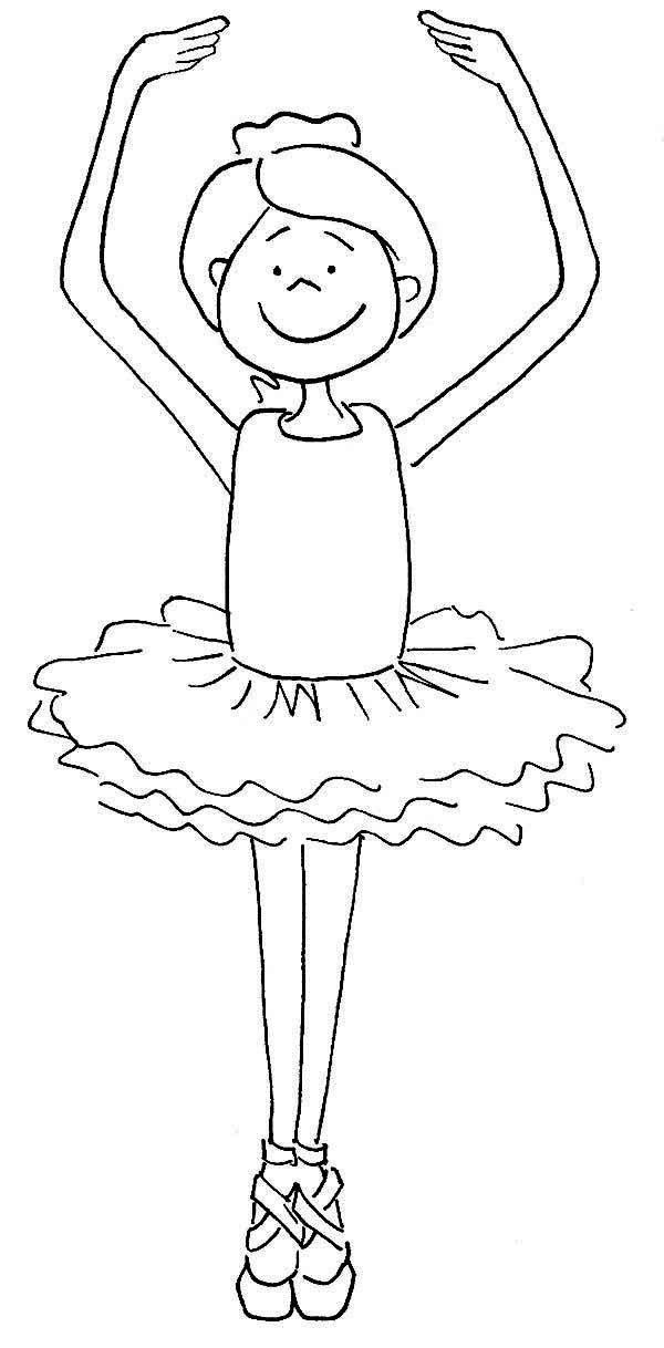 Ballerina, : Cute Ballerina Girl Coloring Page | Dance - coloring ...