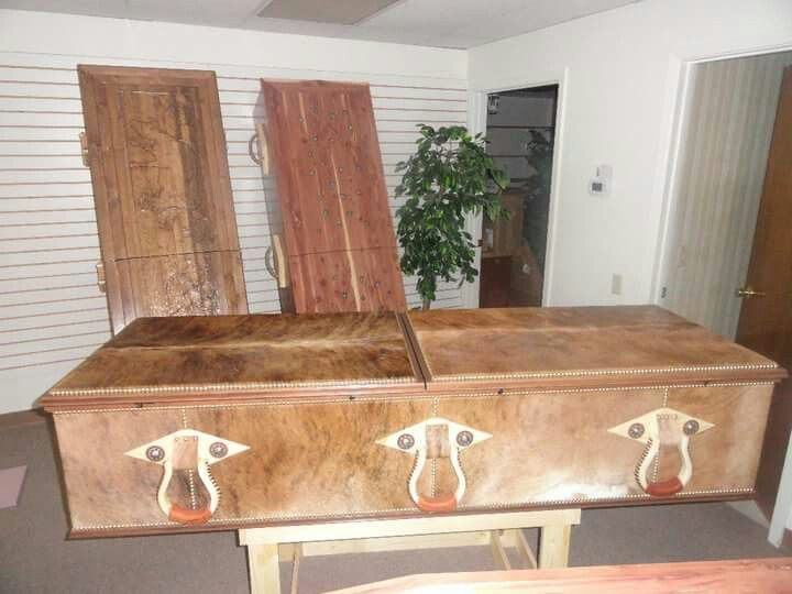 From Cowboys Last Ride Casket Company - custom made wooden