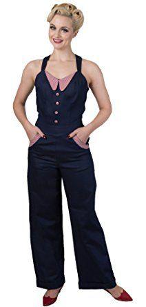 quality design cc5c0 363e2 Dancing Days BLUEBERRY Jeans Denim GINGHAM Vintage JUMPSUIT ...