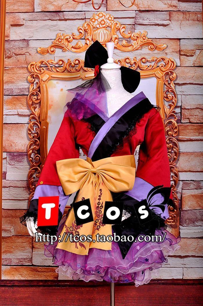 Vocaloid Cosplay Megurine Luka The Plum Flower Costume Lolita Women s Dress  Kimono Evening Dress Gown Rode 3e7d3380b422