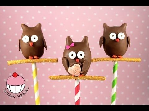 How to make Owl Cake Pops by Cupcake Addiction YouTube Baking