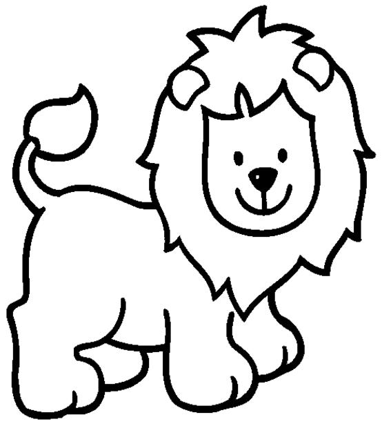 Dibujo Para Colorear León Animales Párvulos Leon Para Colorear