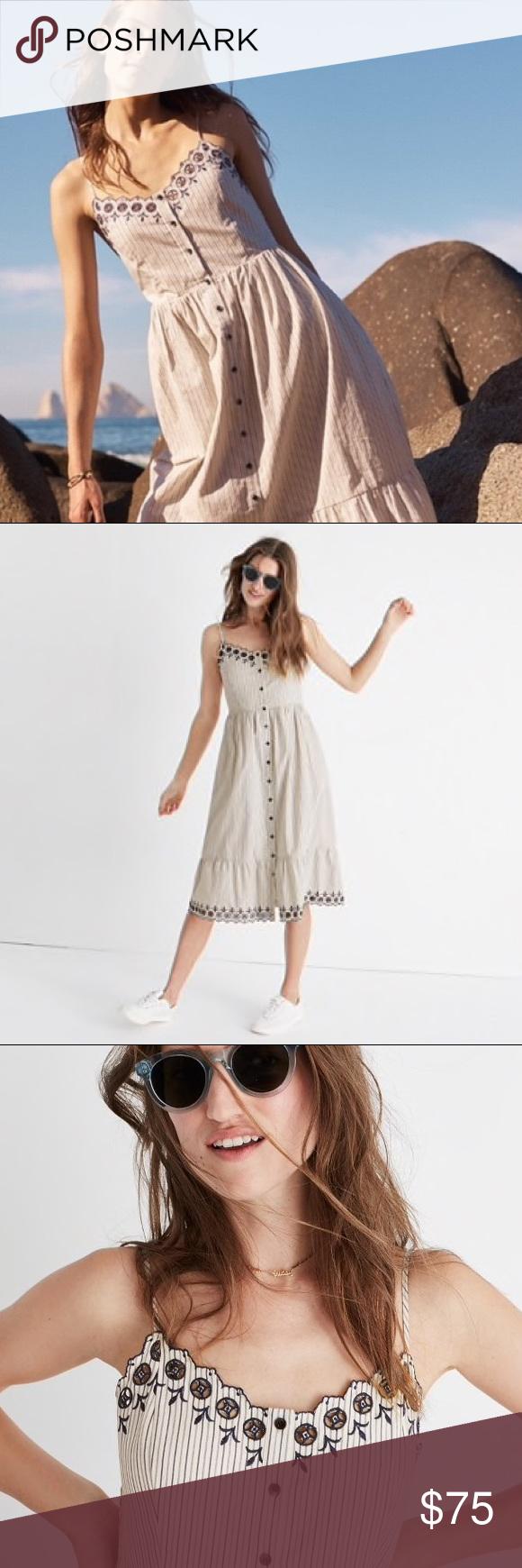 Madewell Embroidered Jardin Midi Dress Fashion Embroidered Midi Dress Madewell Dresses [ 1740 x 580 Pixel ]