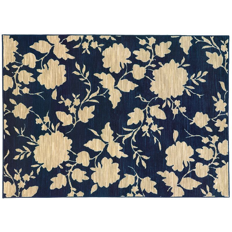 StyleHaven Rowe Floral Silhouette Rug, Blue