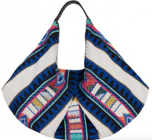 Christophe Sauvat EXCLUSIVE Moonwest Printed Cotton Hobo- Complete your boho look  with this fabulous printed bag! #boho #purses
