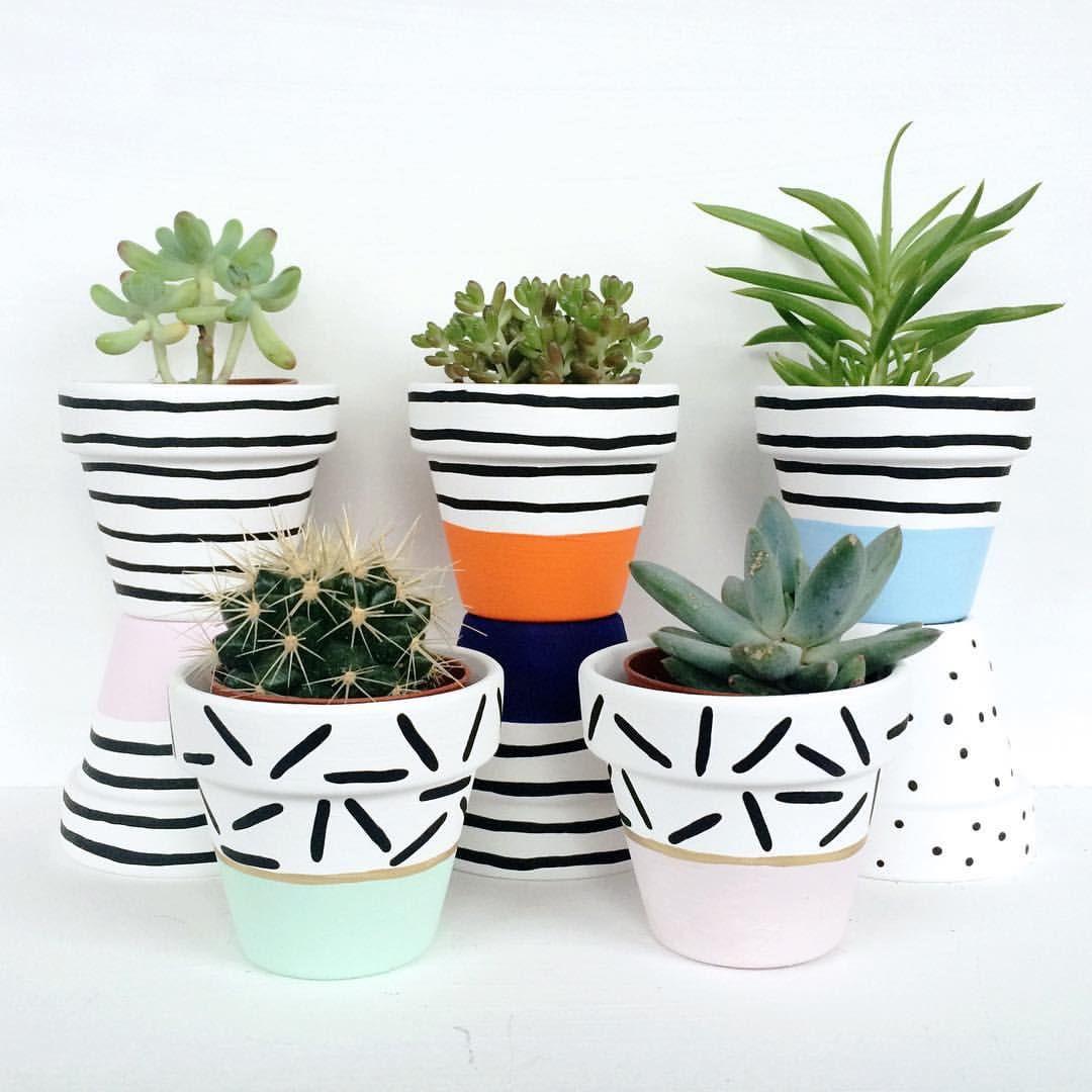P I N T E R E S T Sarahesilvester Painted Plant Pots Plant