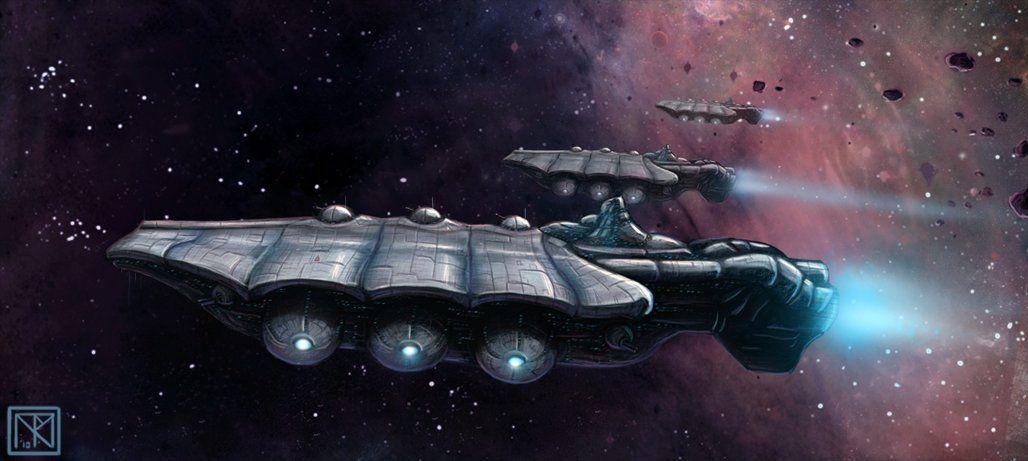 starship concept ii picture 2d scifi concept art