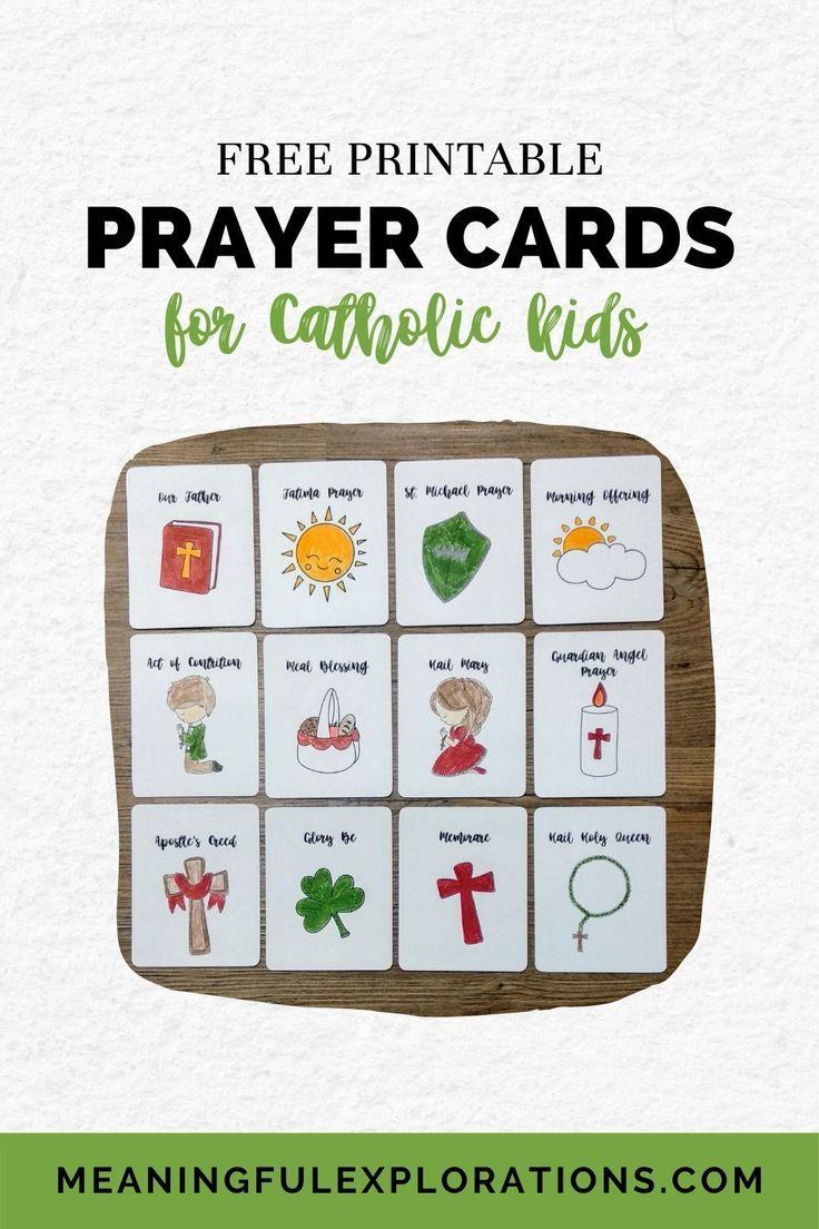 catholic prayer cards printable