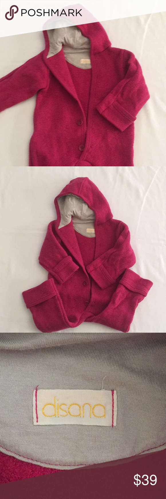 04ebd482425d Disana Organic Bunting 100% Organic boiled wool baby bunting hooded ...
